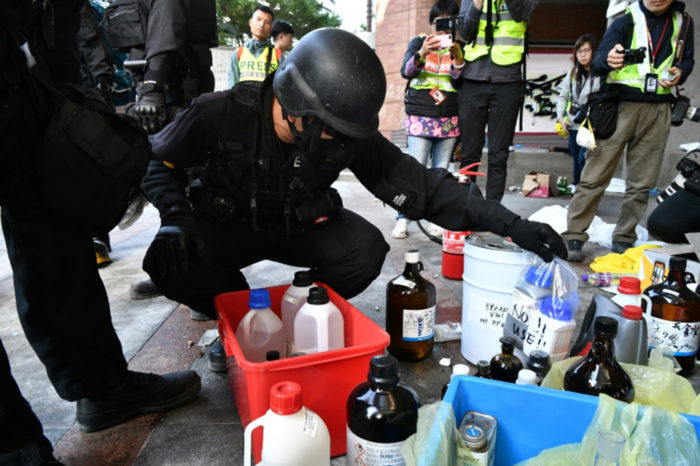 Hong Kong police enter ransacked campus after protest siege