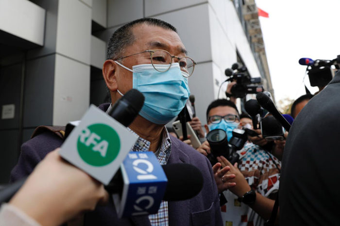 Hong Kong police arrest media tycoon Jimmy Lai on illegal assembly charges