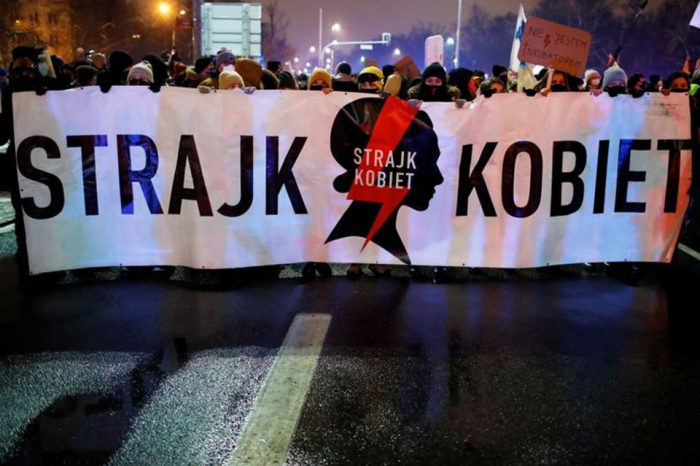 Polish protests against abortion ruling pose coronavirus infection risks, says minister
