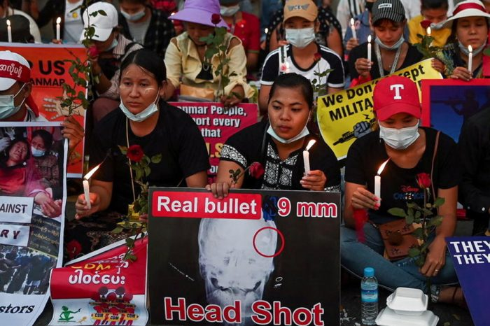 Several dead as Myanmar security forces fire at protesters calling for 'spring revolution'